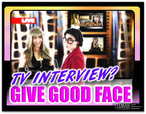 How to Give Good Face in a TV Interview STEBIAN.COM Video Presentation Coaching with Bianca Te Rito