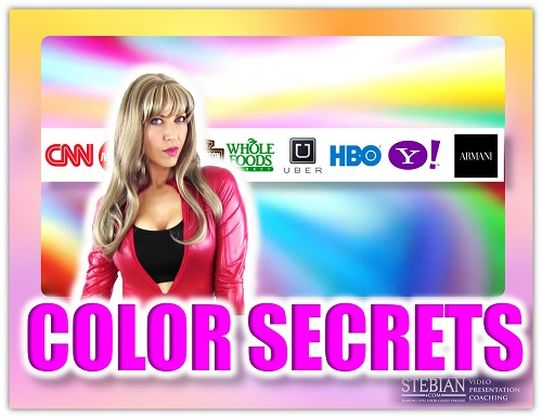 Learn the secrets of Color to enhance your video presentations STEBIAN.com Video Presentation Coaching with Bianca Te Rito 3