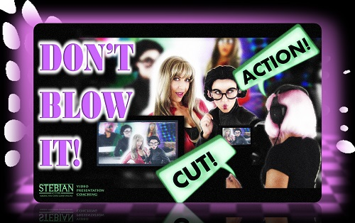 STEBIAN.com Video presentation coaching Don't blow it. Here's how to deliver a great video presentation with Bianca Te Rito 500