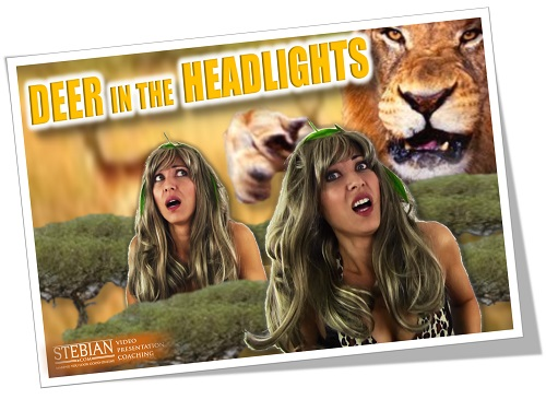 Are you Like a Deer in the Headlights on Video STEBIAN.com Video Presentation Coaching 1